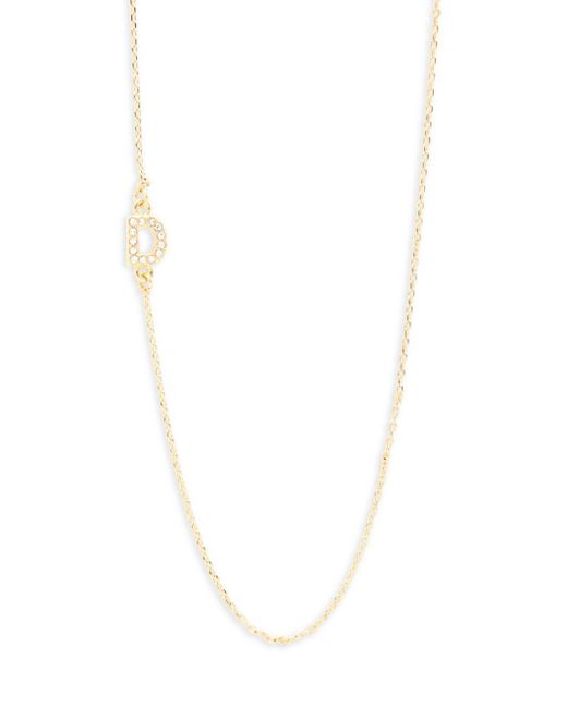 BaubleBar | Metallic Diamanda Alpha 14k Goldplated D-necklace | Lyst