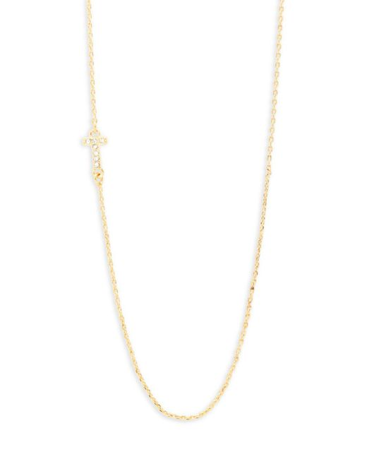 BaubleBar | Metallic Diamanda Alpha T-necklace | Lyst