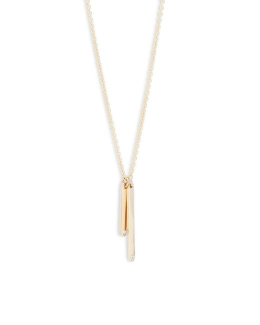 Ron Hami | Matchstick Diamond & 14k Yellow Gold Pendant Necklace | Lyst