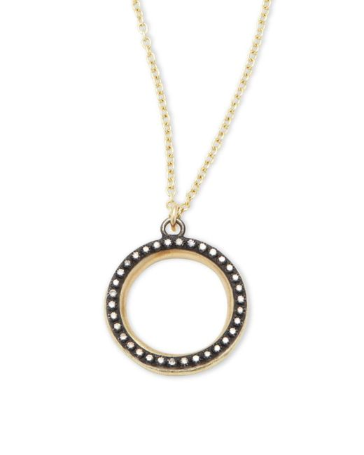 Armenta | Metallic Old World Champagne Diamonds, 18k Yellow Gold & Sterling Silver Round Pendant Necklace | Lyst