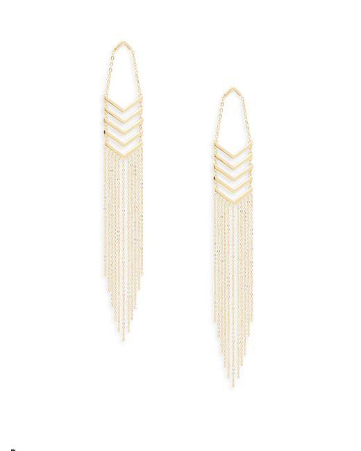 Noir Jewelry | Metallic Fringed Chevron Earrings | Lyst