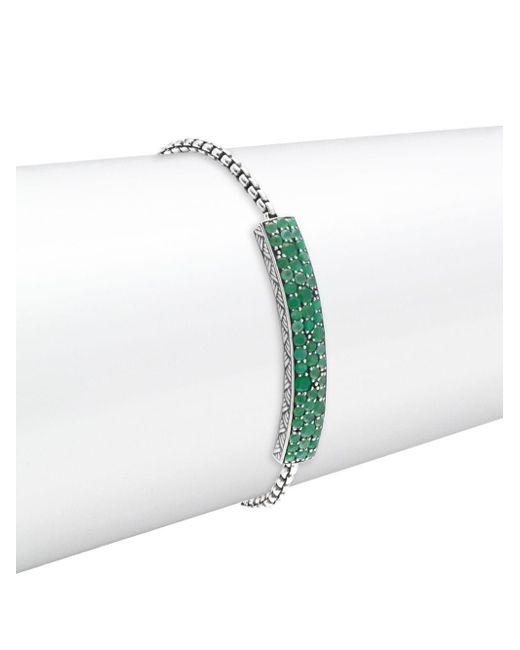 Stephen Dweck | Green Chrysoprase & Sterling Silver Bracelet | Lyst