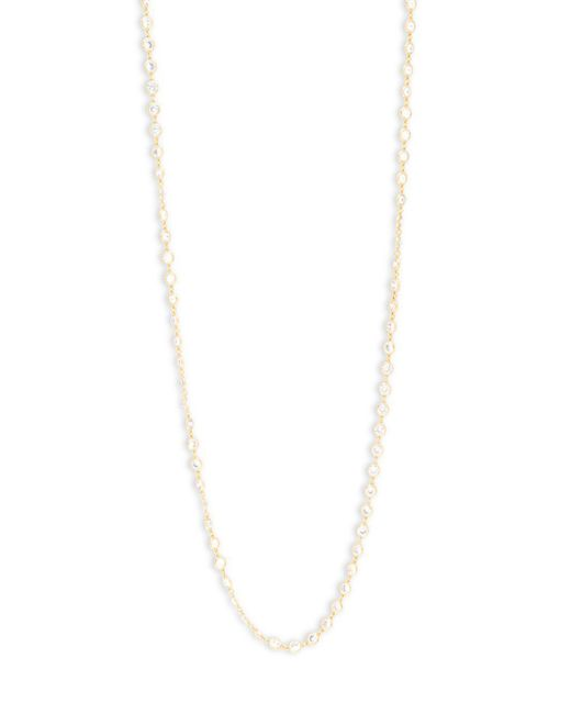 Saks Fifth Avenue | Metallic Cubic Zirconia Goldtone Necklace | Lyst