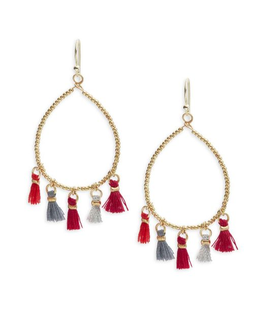Panacea | Multicolor Beaded Hoop Drop Earrings | Lyst