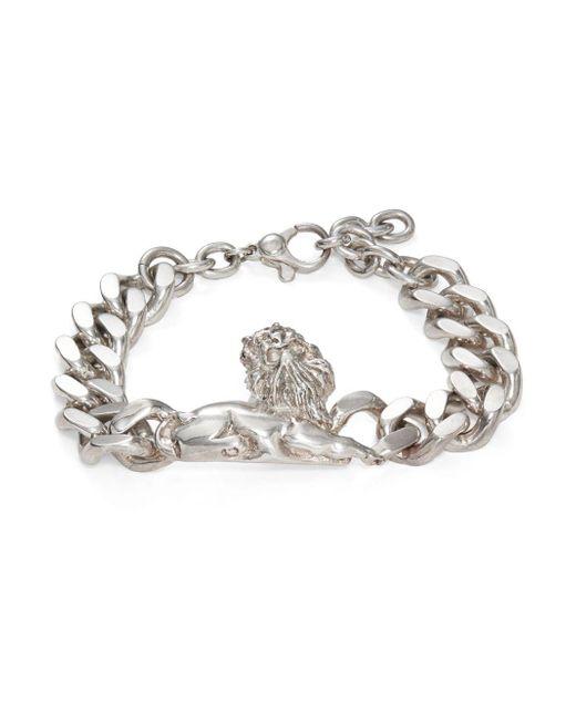 Valentino   Metallic Silvertone Chain Bracelet   Lyst