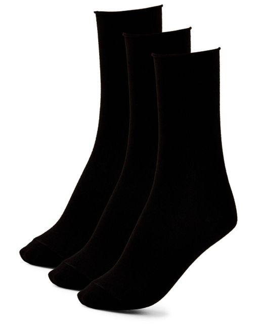 Hue | Black Three Pack Roll Sock Set for Men | Lyst