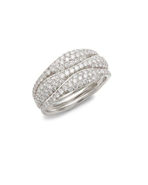 Kwiat   Metallic Moonlight Diamond & 18k White Gold Ring   Lyst