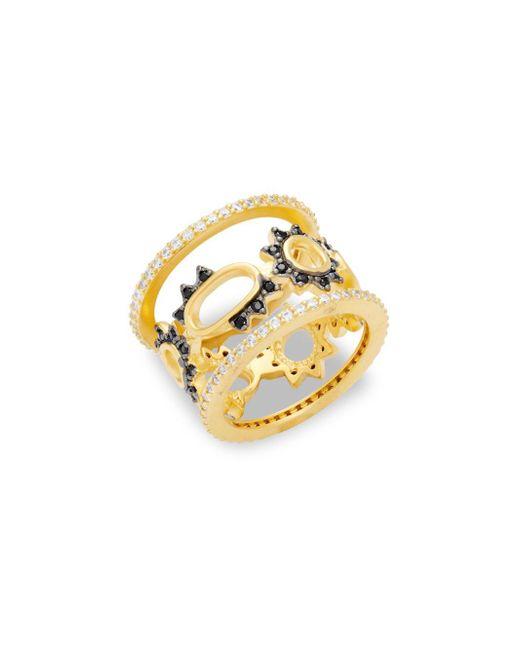 Freida Rothman | Metallic Crystal Spike Oval Midi Ring | Lyst