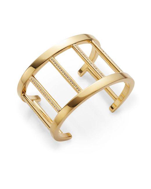 Vita Fede | Metallic Pandora Crystal-accent Cuff Bracelet/goldtone | Lyst