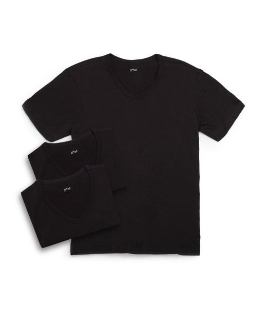 2xist | Black Essential V-neck Tee/3-pack | Lyst