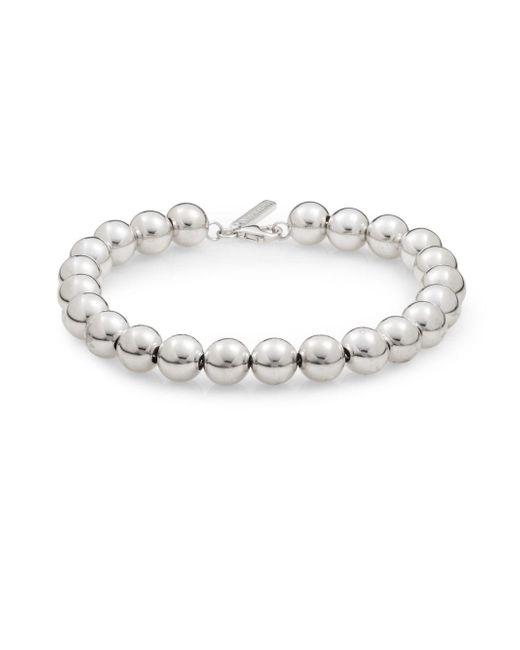 Saks Fifth Avenue | Metallic Sterling Silver Ball Bead Bracelet | Lyst