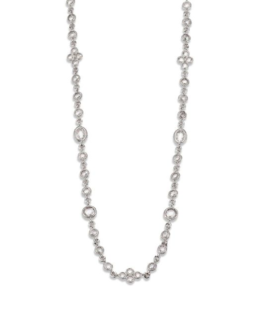 Adriana Orsini | Metallic Faceted Double Wrap Necklace/rhodium-plated | Lyst