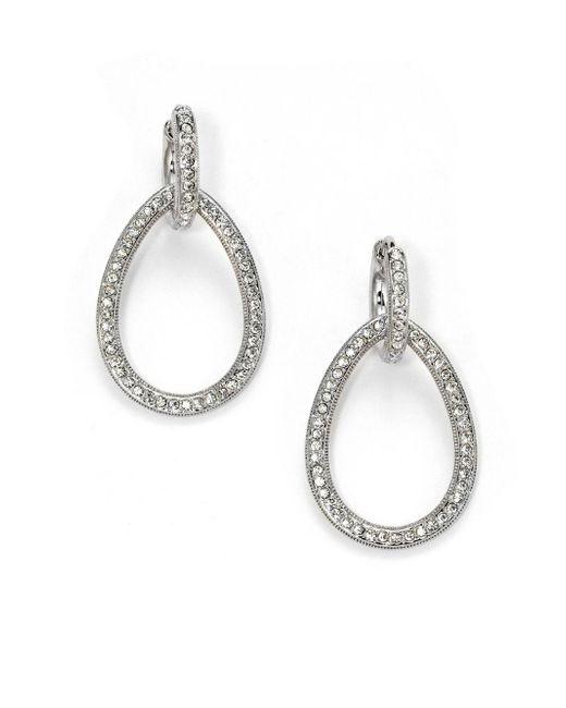 Adriana Orsini | Metallic Pavà Teardrop Earrings | Lyst