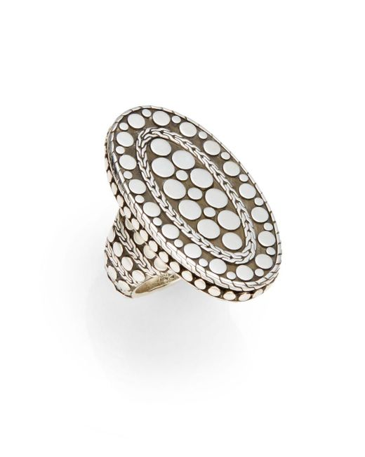 John Hardy | Metallic Sterling Silver Oval Ring | Lyst