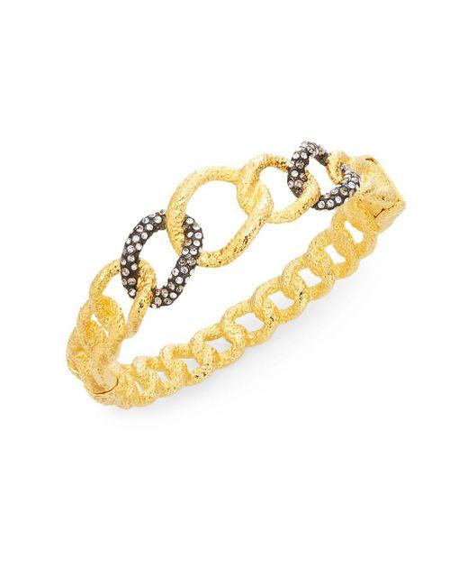 Alexis Bittar | Metallic Elements Swarovski Crystal Chain Link Bracelet | Lyst