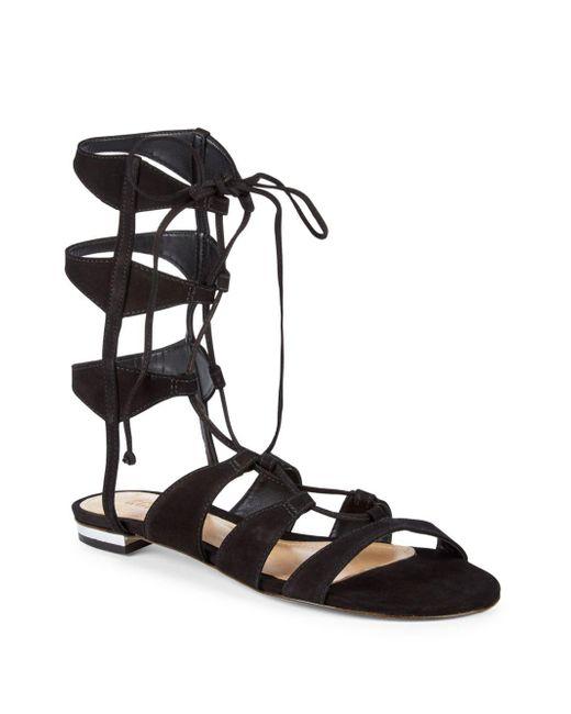 Schutz - Black Erlina Suede Gladiator Sandals - Lyst