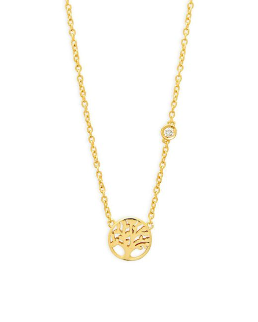 Shy By Sydney Evan - Metallic Tree Of Life Diamond & Sterling Silver Pendant Necklace - Lyst