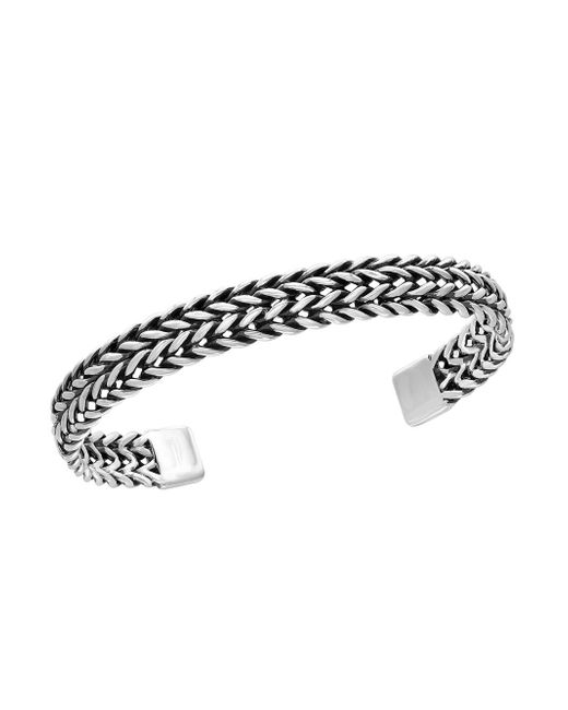 Effy - Metallic 0.925 Sterling Silver Woven Cuff Bangle - Lyst