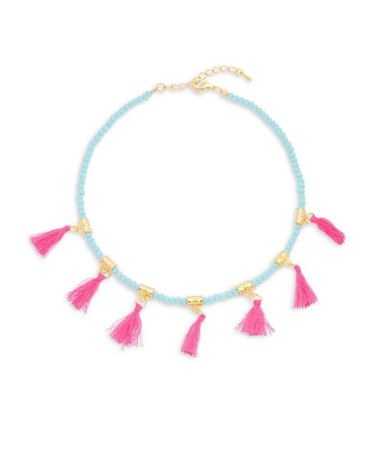 Elise M | Multicolor Glass And Fabric Choker | Lyst
