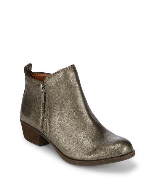 Lucky Brand - Metallic Basel Leather Booties - Lyst
