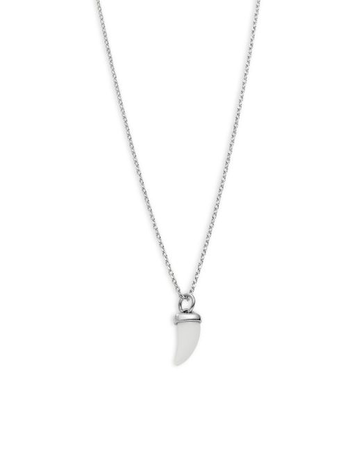 Saks Fifth Avenue | Metallic Sterling Silver Necklace | Lyst