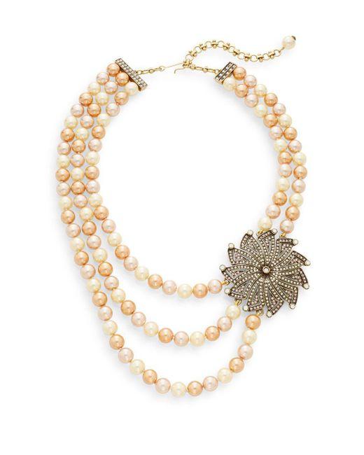 Heidi Daus | Sparkle In Your Eye Swarovski Crystal & Multicolor Rhinestone Beaded Pendant Necklace | Lyst