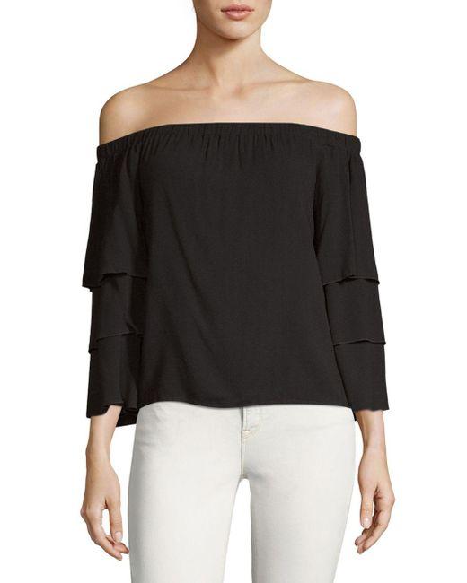 4fef4e89277b6 Lyst - Ella Moss Stella Off-the-shoulder Top in Black - Save 24%