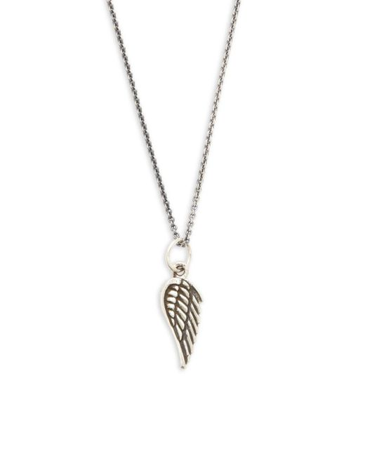 King Baby Studio - Metallic Sterling Silver Micro Wing Pendant Necklace - Lyst