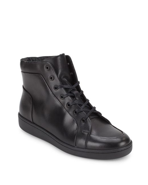 Kenneth Cole   Black Madison High-top Sneakers for Men   Lyst