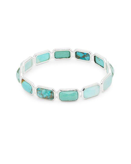 Ippolita - Metallic Rock Candy Multi-stone And Sterling Silver All Brick Bangle Bracelet - Lyst