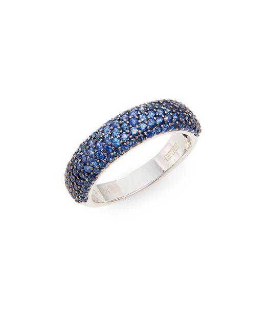 Effy - Blue Sapphire & 14k White Gold Ring - Lyst