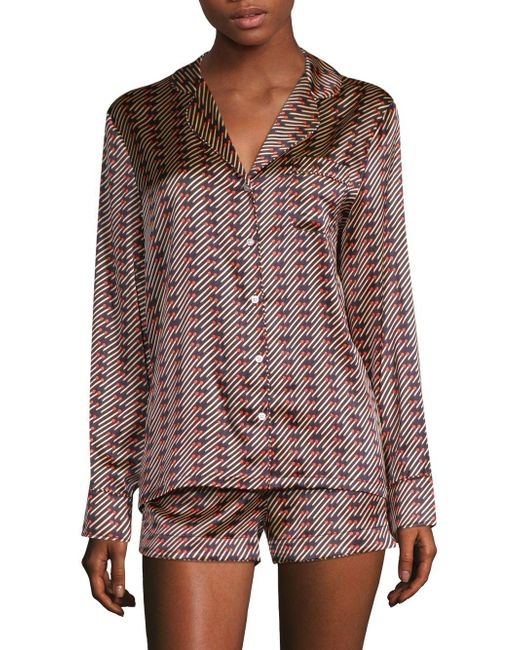 Stella McCartney - Multicolor Poppy Snoozing Silk-blend Short Pajamas - Lyst