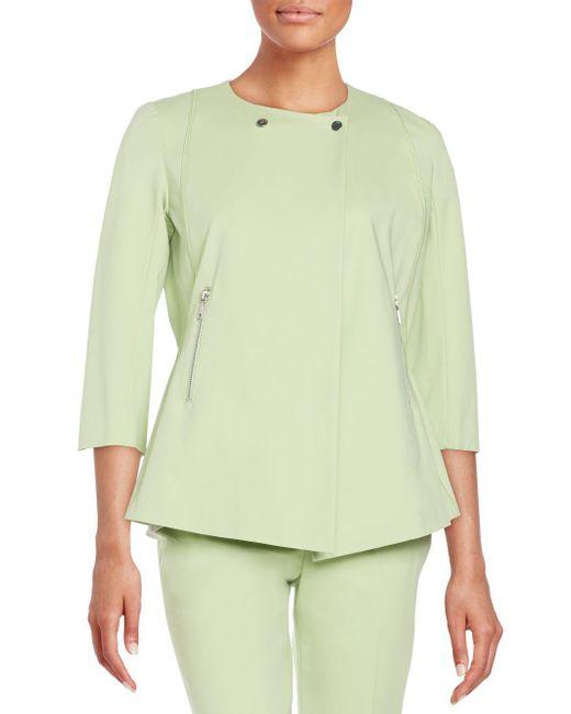 Lafayette 148 New York - Green Fundamental Stretch Dayle Jacket - Lyst