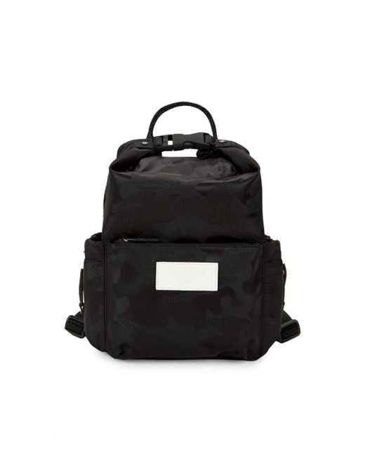Kendall + Kylie Black Mini Logo Camouflage Backpack