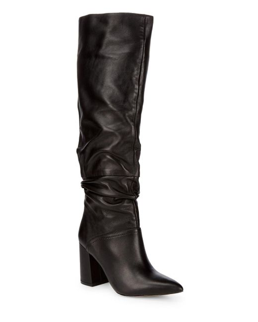 Steve Madden - Black Norie Leather Boots - Lyst