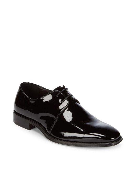 Saks Fifth Avenue - Black Leather Oxfords for Men - Lyst