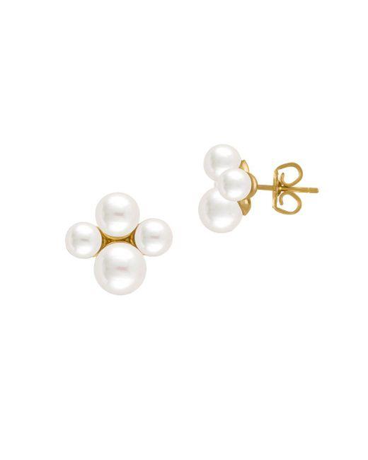 Majorica - 5-7mm White Organic Pearl Stud Earrings - Lyst