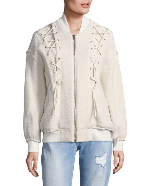 IRO - White Siloelace-up Jacket - Lyst