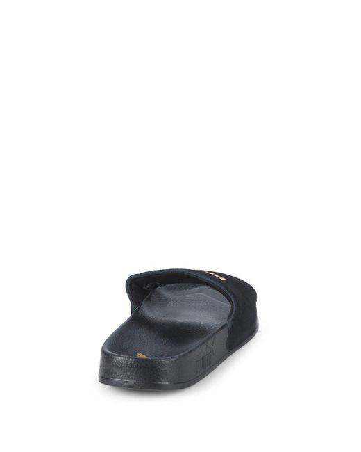 76da09e6adc2 ... PUMA - Black Lead Cat Suede Slides for Men - Lyst ...
