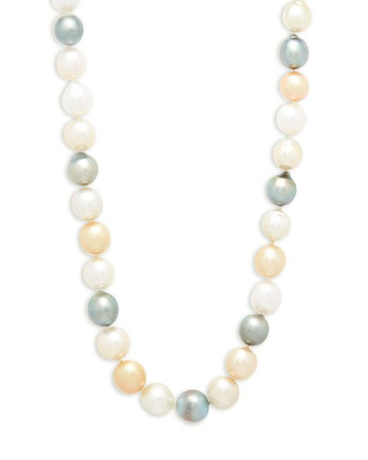 Belpearl - Metallic 9-11.5mm Multicolour Drop South Sea & Tahitian Pearl And 14k Yellow Gold Necklace - Lyst