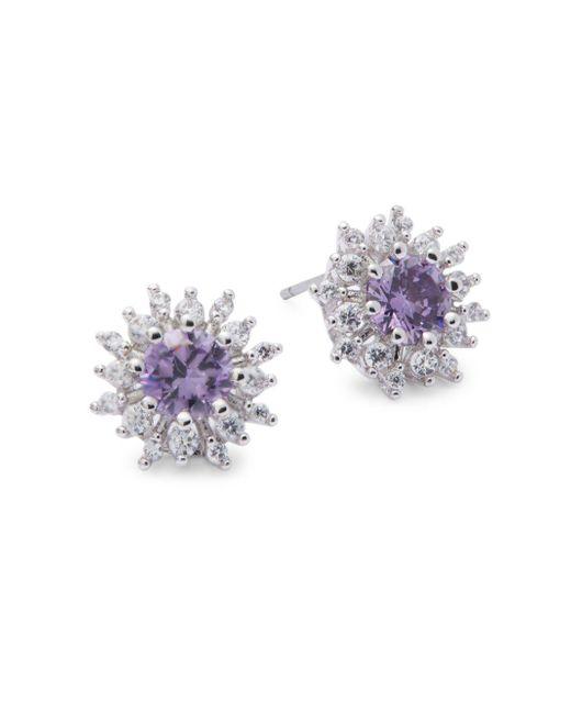 Saks Fifth Avenue | Multicolor Amethyst Silvertone Earrings | Lyst