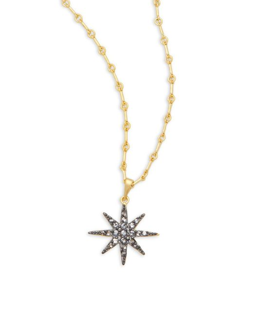 Freida Rothman - Metallic Classic Cz & 14k Gold-plated Sterling Silver Starburst Pendant Necklace - Lyst
