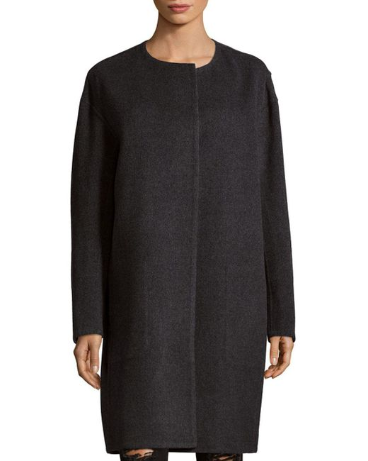 Vince | Gray Reversible Long Coat | Lyst