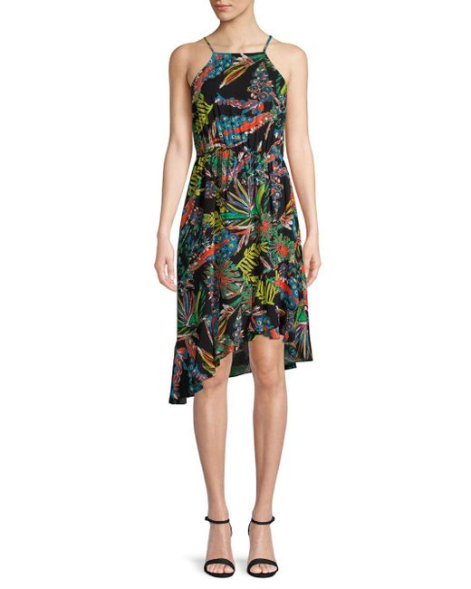 Plenty by Tracy Reese - Black Tropical Asymmetric Dress - Lyst