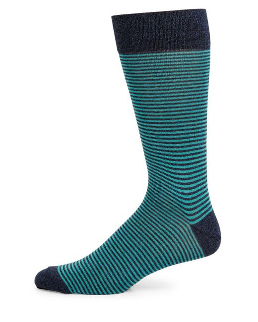 Saks Fifth Avenue - Blue Collection Cigarette Striped Socks - Lyst