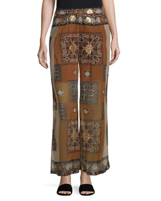 Raga - Brown Bohemian-print Pants - Lyst