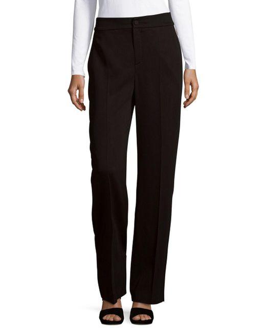 Lanvin - Black Classic Office Style Pants - Lyst