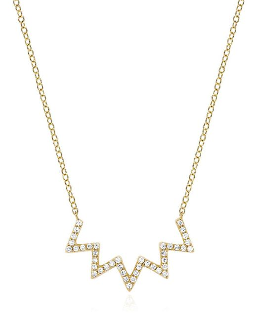 EF Collection - Metallic Electric Zig Zag Diamond Necklace - Lyst