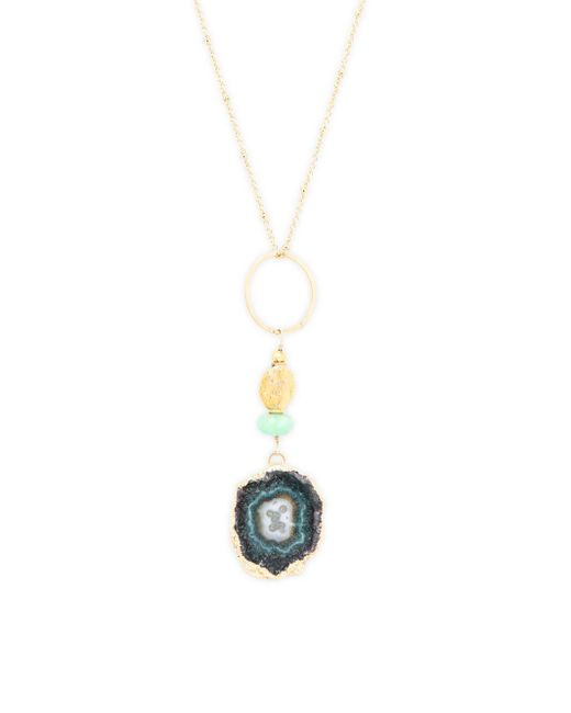 Alanna Bess - Metallic Linked Pendant Chain Necklace - Lyst