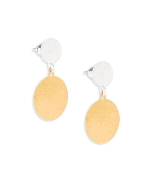 Gurhan - Metallic Lush 24k Goldplated Sterling Silver Flake Drop Earrings - Lyst